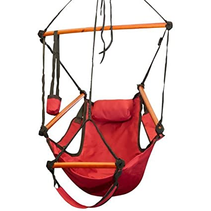 Delicieux Best Choice Products Hammock Hanging Chair Air Deluxe Outdoor Chair Solid  Wood 250lb Red