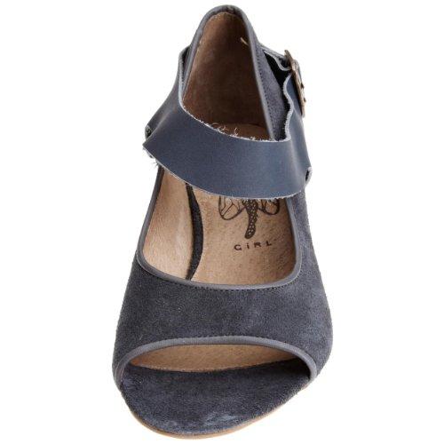 Fly London Troy P141864 - Zapatos de vestir de ante para mujer Gris (Grau/Dk Grey/Indigo)