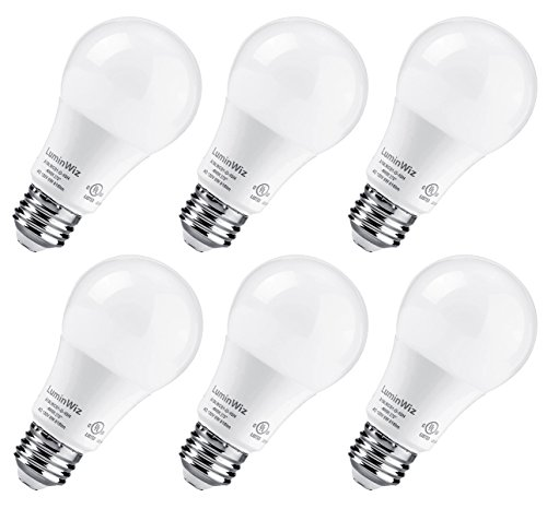 A19 LED Bulb, LuminWiz 9W 4000K 700lm UL-Listed LED Light Bulbs 60W Equivalent,E26 Base,Energy Star,Daylight - Globe Watt Cfl