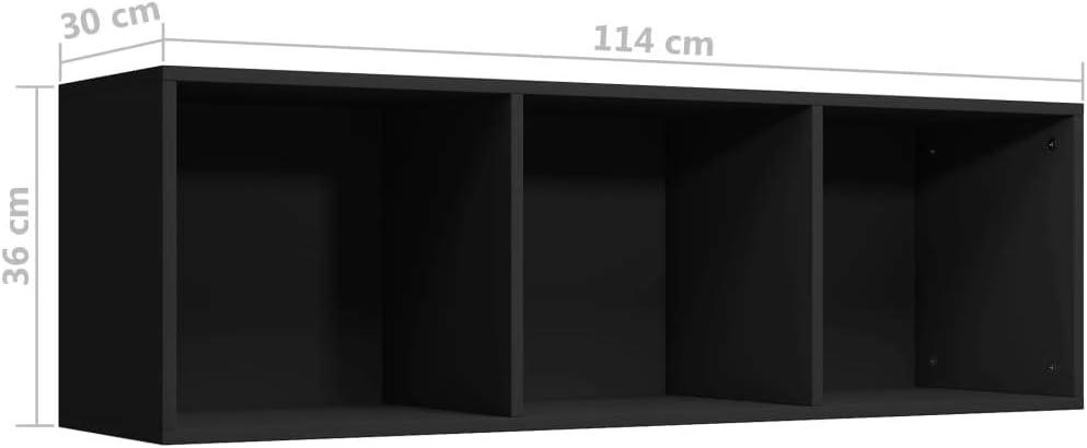 Tidyard B/ücherregal//TV-Schrank B/ücherschrank als Fernsehschrank TV-B/änke Lowboards Fernsehtisch 36 x 30 x 114 cm Mit 3 F/ächern,Lowboard Board Seitenschrank Standregal K/üchenregal,Spanplatte