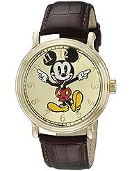 Disney Mens W001848 Mickey Mouse Analog Display Analog Quartz Brown Watch