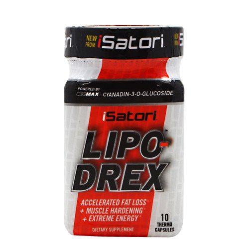 ISatori Lipo-Drex - Fat Loss- Muscle Hardening - Extreme Energy - 10 Capsules