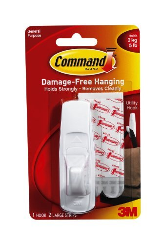 Command Utility Hook, Large, 5-Pound Capacity, 2-PACK