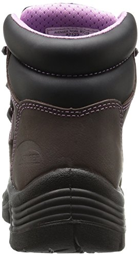 Resistant Women's Construction Avenger Toe 7123 Boot Work and SR Comp Waterproof Brown Leather Shoe EH Industrial Puncture xTnqXdnAU