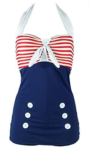 Cocoship Vintage Swimsuit Boyleg Maillot