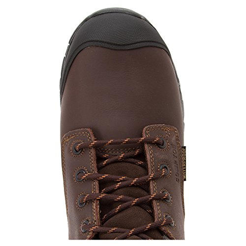 Justin Mens Work Tek 8 Stivaletto Stringato Impermeabile Isolato In Tessuto - Wk109 Marrone Scuro