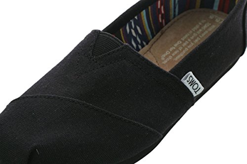 Toms Women's Black on Black Canvas Classic ASLPRG 10002472 (SIZE: 7.5) Photo #4