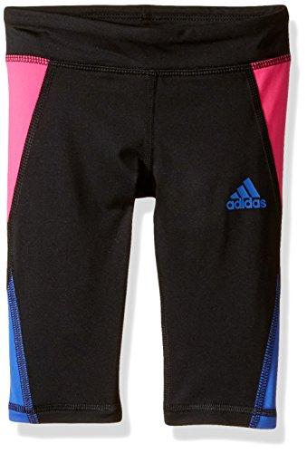 adidas Little Girls' Active Capri Tight Legging, Black/Pink, 5