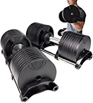 QuickSelect Adjustable Dumbbells Set 4.5 - 70lbs | Weights for Workout Home Gym | Exercise and Fitness for Men
