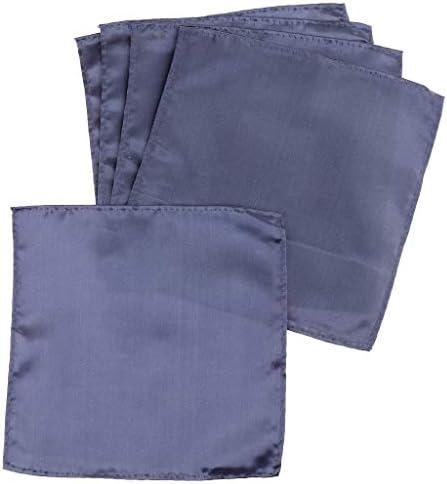 5個 スーツポケット タオル スクエア ハンカチ 紳士 プレゼント 5色選べ