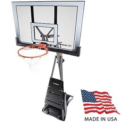 Reebok Revolution 51563 Portable Basketball Hoop with 52in Acrylic Backboard