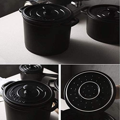 WZF Pot à Soupe de Pot de ragoût de Casserole avec la température élevée de Pot en céramique de Couvercle