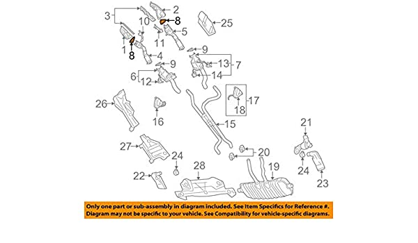 PORSCHE OEM 03-06 Cayenne 4.5L-V8 Exhaust Manifold-Manifold Gasket 95511111300