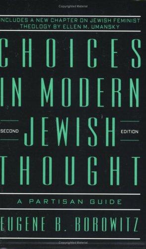 Choices in Modern Jewish - Eugene Modern