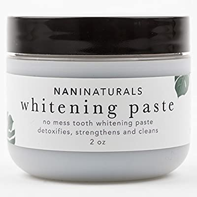 All Natural Organic No Mess Tooth Whitening granules with Activated Charcoal - Spearmint - Better Than Powder, Gel, Strips - Made in USA - 2oz