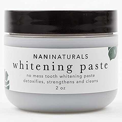 All Natural Organic No Mess Tooth Whitening Paste with Activated Charcoal - Spearmint - Better Than Powder, Gel, Strips - Made in USA - 2oz