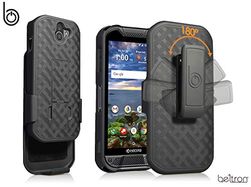 - Kyocera DuraForce Pro 2 Case with Belt Clip Holster, Heavy Duty Slim Shell Holster Combo with Built-in Kickstand for Verizon Wireless Kyocera E6900 E6910 Duraforce Pro-2