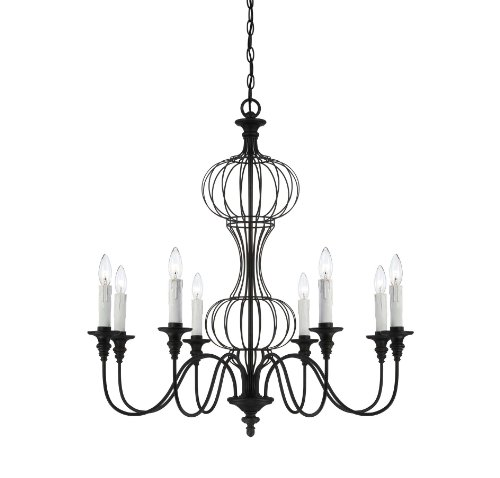 Savoy House 1-6011-8-17 Chandelier with No Shades, Forged Black Finish