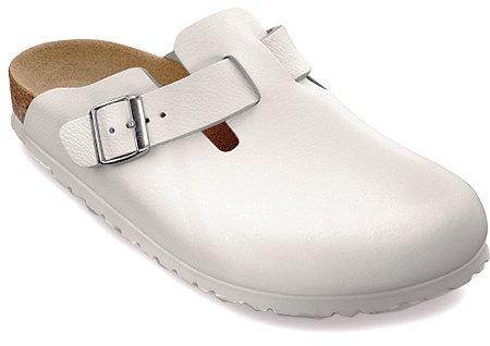Birkenstock Boston Leather Clogs,White Leather,49 R EU