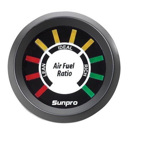 Sunpro CP8210 Electrical Air Fuel Ratio - Black - Gauge Sunpro Fuel