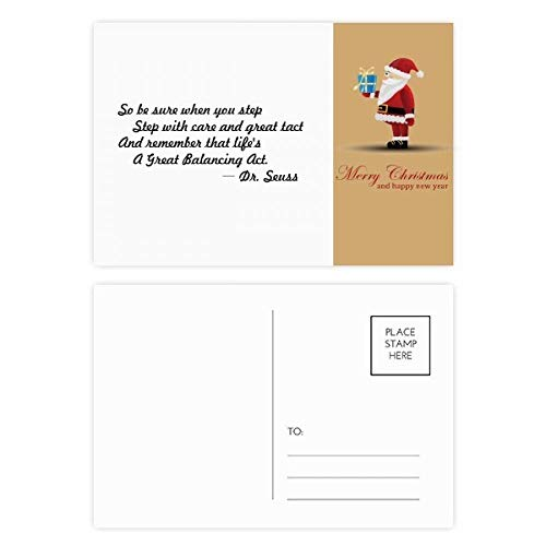 (Care And Tact Give You Balance Life Quotes Santa Claus Postcard Set Thanks Card Mailing 20pcs)