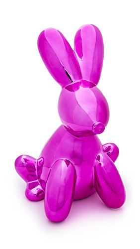 Made By Humans 456 Balloon Bunny Munny Bank, Pink