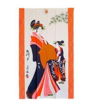 Japanese Geisha Noren Doorway Curtain door decorating YangFan