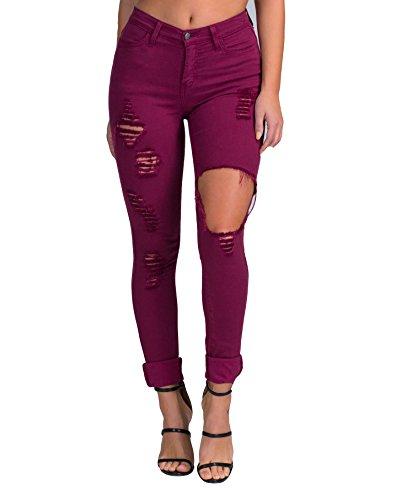 Vibrant Shopglamla Distressed Skinny Jeans product image