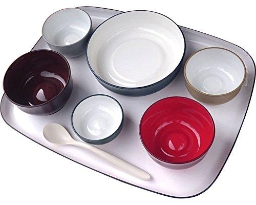 五感で楽しむ自立支援食器IROHA フルセット iroha01 (大成樹脂工業) (食器) B01NAH9AX9