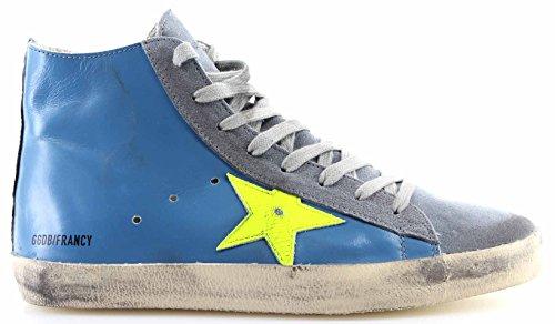 Golden Goose Scarpe Sneakers Uomo Francy Sky Yellow Fluo Star Pelle Blu Nuove Mejor Tienda En Línea Para Obtener Zr4vxqw