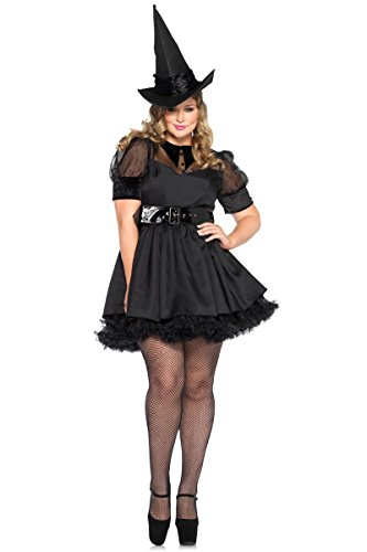 Leg Avenue 85238X Bewitching Witch Halloween Costume - Black - 1X-2X