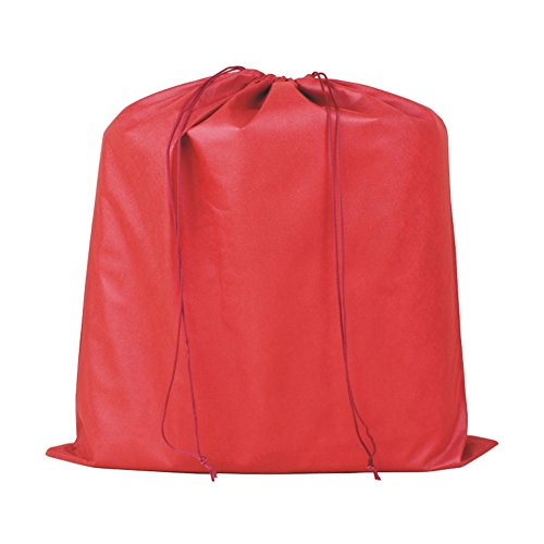 2 Piece Thick Non-woven Dust Bag Beam Port Drawstring Pouch (Red)