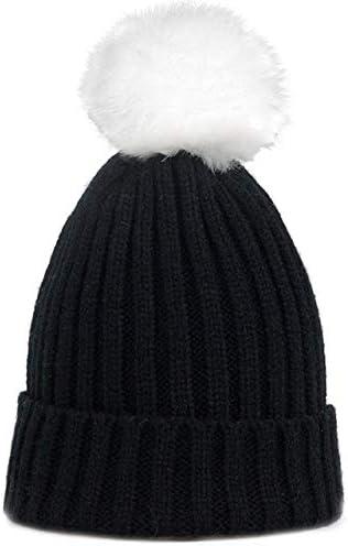 LONIY Fur Pompon Hat Winter Hat Men Skullies Beanies Women Warm Cap Elasticity Knit Beanie Hats Children Hats