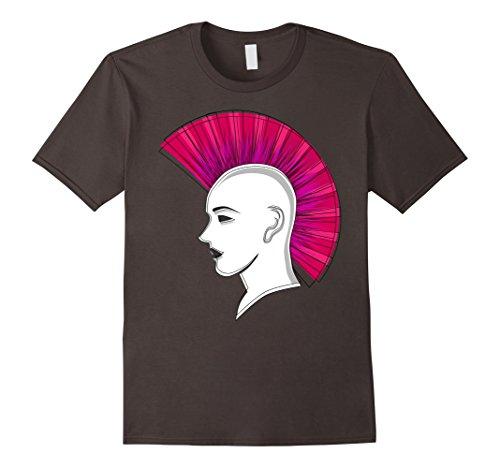 Men's 1980s Pink Punk Rock Mohawk T-Shirt 80's Party Retro Shirt XL Asphalt ()