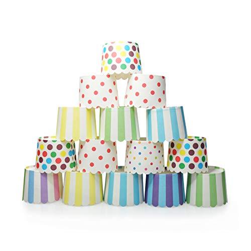 Gabkey Large Paper Cake Baking Cup Cupcake Muffin Cases diameter 6cm,Set of 100