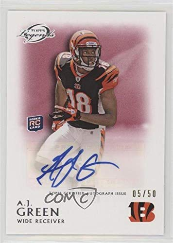 - A.J. Green #/50 (Football Card) 2011 Topps Gridiron Legends - Rookie Autographs - Red #RA-AJG
