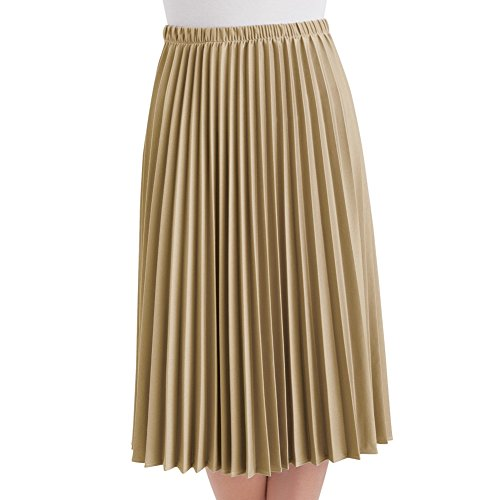 Womens Pleated Length Skirt Plus Size
