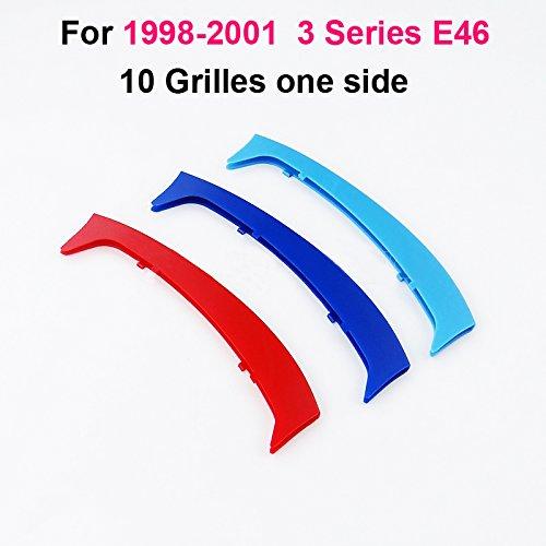1998-2001,3 colores parrilla delantera trim Muchkey 3D M-Color Parrilla de ri/ñ/ón,para E46 10 parrillas