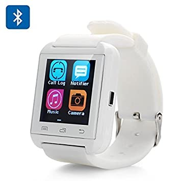 Highdas Bluetooth Smart Watch Reloj Pulsera Inteligente U8 UWatch, Apto para Smartphones IOS Android Apple