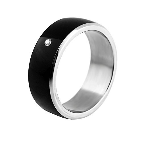 ChiTronic Newest Magic Smart Ring Universal For All Android Windows NFC Cellphone Mobile Phones,Black,Ring Size 66mm(Girth)