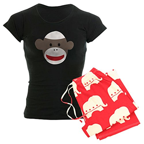 CafePress Sock Monkey Face Women's Dark Pajamas -