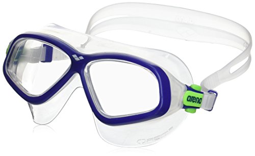 Arena Orbit 2 Masque de Natation Mixte, Bleu, Taille Unique Transparent/bleu marine/vert lime