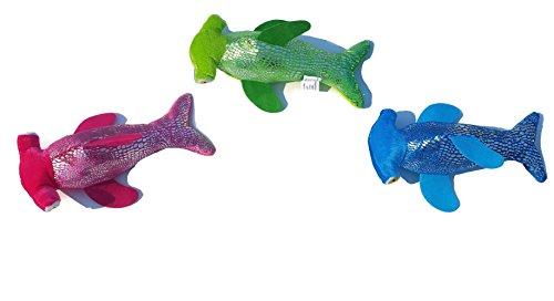 Set of 3 10.5 Hammerhead Sharks Glitter Stuffed Plush Animal