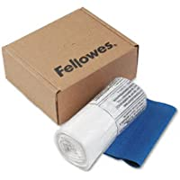 Fellowesamp;reg; Powershred Shredder Bags, 10 Gallon Capacity, Clear, 100 Bags amp;amp; Ties/CTN