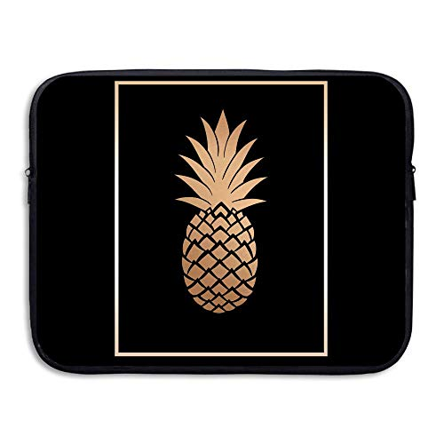 Water-resistant Laptop Bags Gold Pineapple Ultrabook Briefcase Sleeve Case Bags 15 Inch]()