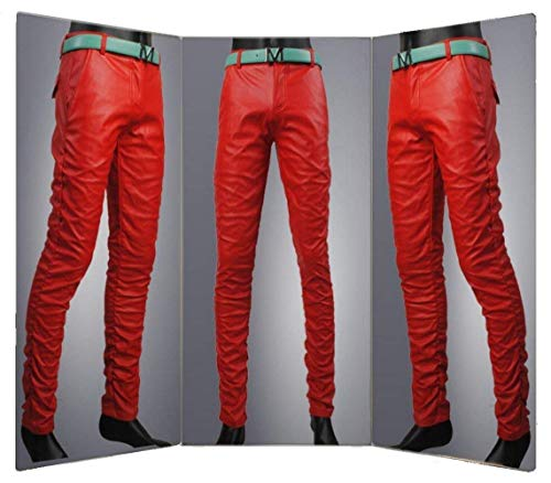Pelle In Pantaloni Da Uomo Slim Jeans Di Vita Mode Bassa Marca Tubo A Ts003de Rot Sintetica Skinny 5dnrxqCwBn