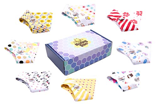 Baby Bandana Bibs for Boys & Girls 8-Pack Reversible with 16 Beautiful Designs Per Box Front Back Organic Baby Shower Gift Set - Packed in USA (Girl)