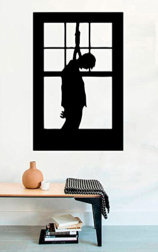 Horror Vinyl Wall Decals Halloween Silhouette in Window