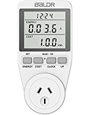 Electricity Usage Monitor AU Plug Power Meter Sockets with Digital LCD Display,Overload Protection and 7 Display Modes for Energy Saving…