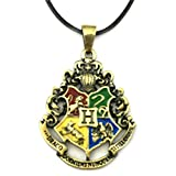 J&C Family Owned Brand Classic Harry Potter Hogwarts Necklace w Gift Box